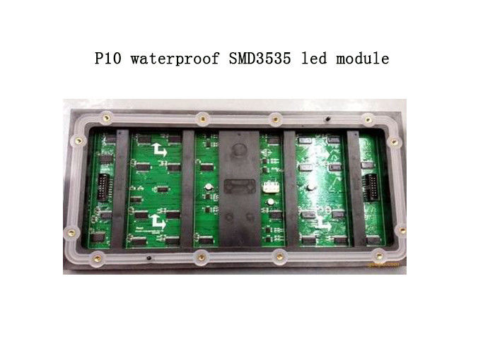 Waterproof P10 SMD 1R1G1B LED Display Module Size 320*160mm 1/4 Scanning
