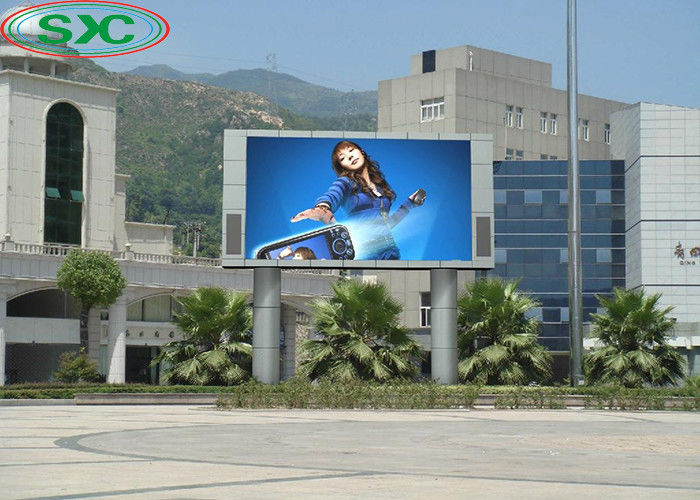 P10 Led Outdoor Advertising Screens Smd 3535 1/4 Scan Module 3 Years Warranty