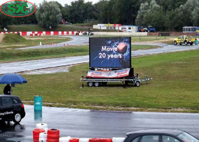Small Scale Car Led Display Board Advertising Flexible Screen 10000 Dots / Sqm