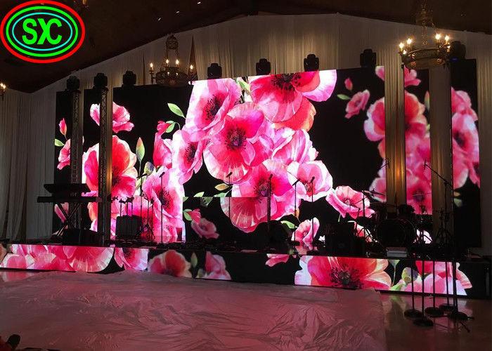 Wedding Decoration Indoor HD Rental LED Display P2 P3 P4 128 * 64 Resolution